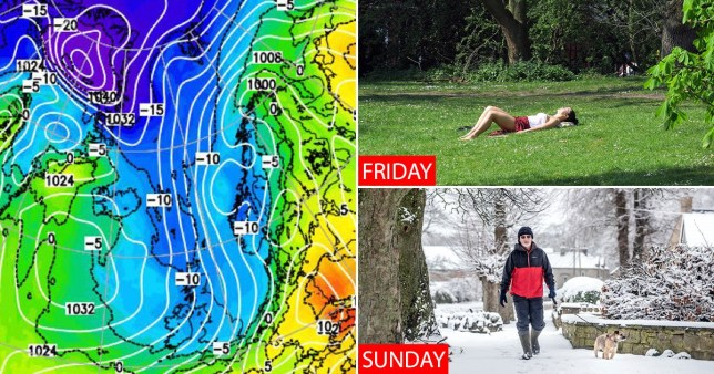 Britain is braced for an unseasonal cold snap, various weather forecasts show