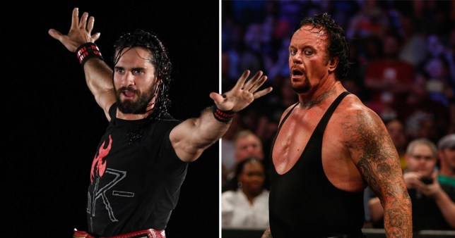 WWE superstars Seth Rollins and The Undertaker