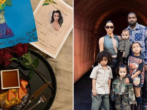 Kim Kardashian treated to breakfast in bed for Mother's Day as sister Kylie celebrates her 'little love' Stormi
