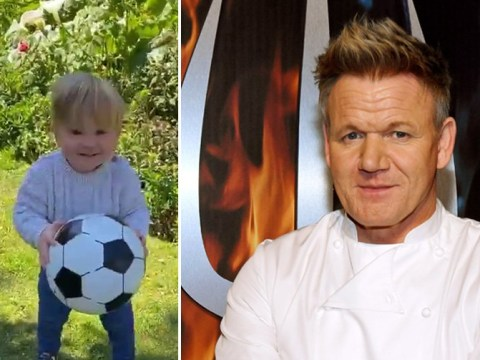 Gordon Ramsay posts video of his baby son with a football and it's the cuteness we all needed today