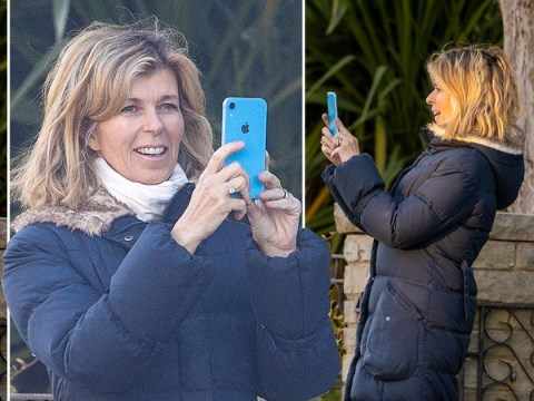 Kate Garraway FaceTimes husband Derek while clapping for the NHS: 'I believe he can hear us'