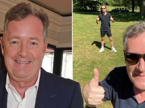 Piers Morgan finally reunites with son Spencer from a distance after three months apart due to lockdown