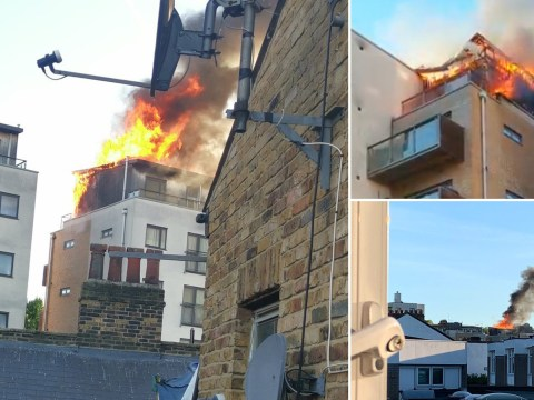 80 firefighters tackle huge blaze at London block of flats