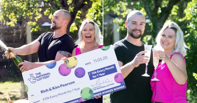 The Pearsons, who won £10,000 a month on the lottery during the lockdown