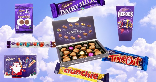 selection of Cadbury chocolate