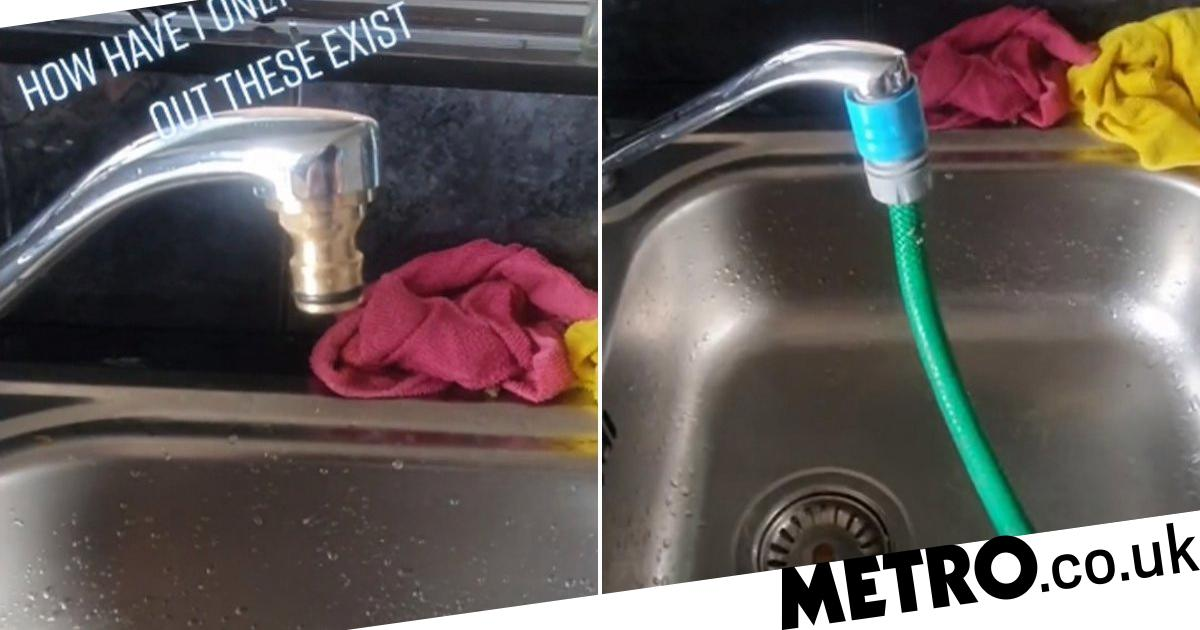 Viral Tiktok Has The Best Kitchen Tap Hack To Fill Up Paddling Pools And Water The Garden Metro News