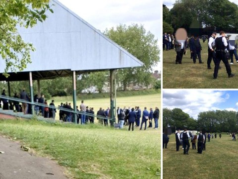 Hundreds cram into football stand for 'outdoor religious ceremony' in lockdown