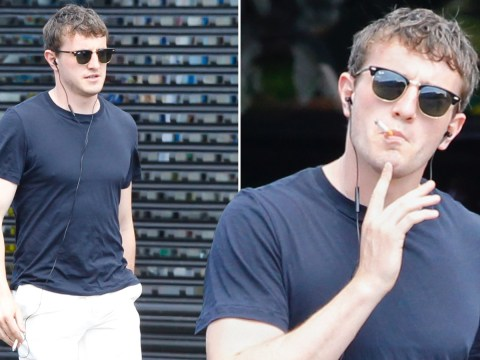 Normal People's Paul Mescal ditches infamous chain as he smokes cigarette on relaxing stroll