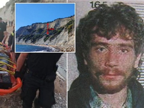 Serial rapist falls 100ft down a cliff during police chase