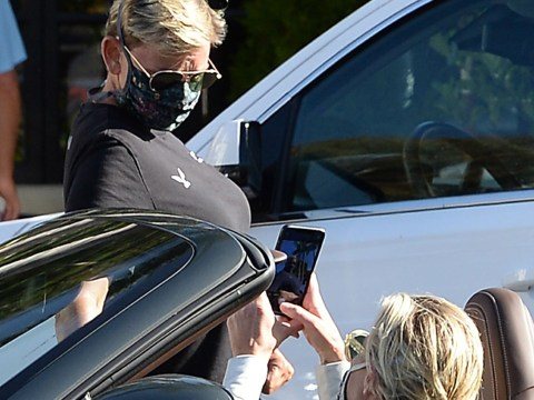 Ellen DeGeneres ignores seemingly-endless backlash as she has a laugh with wife Portia de Rossi