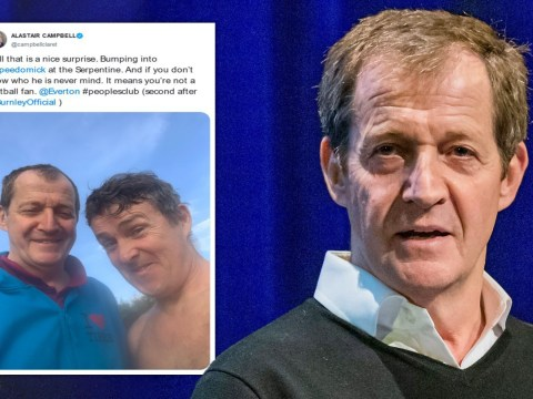 Alastair Campbell breaks social distancing rules for selfie with 'Speedo Mick'