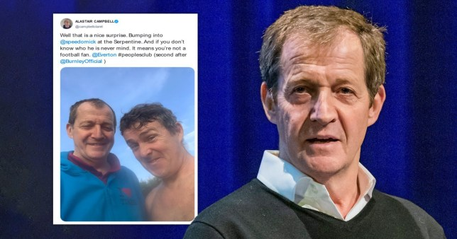 Alastair Campbell has apologised for breaking social distancing for a selfie with Speedo Mick after criticising Dominic Cummings