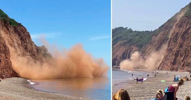 The scene in Sidmouth today