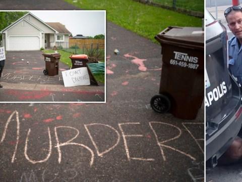 'Murderer lives here' scrawled outside police officer's home after George Floyd killing