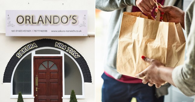 A man has been accused of running a restaurant from his own home, with a sign above the door reading 'Orlando's'.