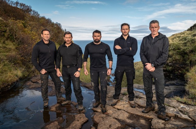 Embargoed to 0001 Monday April 20 Undated handout photo of Ant Middleton (centre) and his staff (left to right) Jason Fox, Ollie Ollerton, Jay Morton and Mark Billingham, who will be leading the gruelling courses which the celebrities taking part in the new series of Channel 4's Celebrity SAS: Who Dares Wins will face. PA Photo. Issue date: Monday April 20, 2020. See PA story SHOWBIZ SAS. Photo credit should read: Channel 4/PA Wire NOTE TO EDITORS: This handout photo may only be used in for editorial reporting purposes for the contemporaneous illustration of events, things or the people in the image or facts mentioned in the caption. Reuse of the picture may require further permission from the copyright holder.