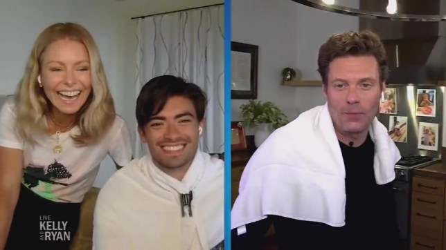 Kelly Ripa cuts her 22-year-old's son's hair on live TV