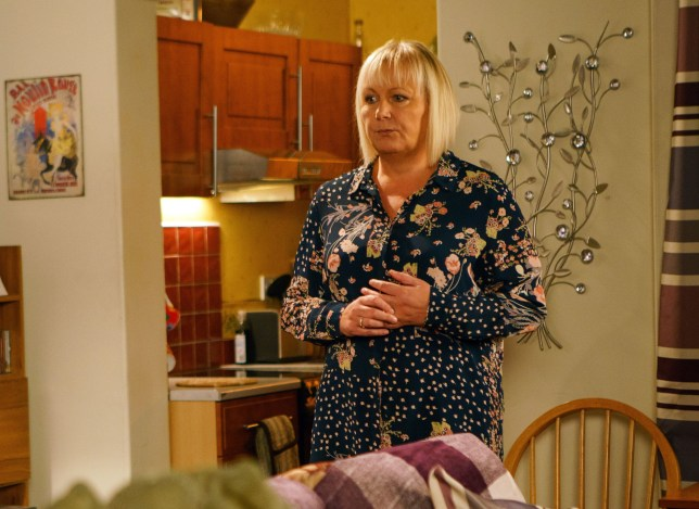 Editorial use only Mandatory Credit: Photo by ITV/REX (9312693bq) Ep 9355 Wednesday 17th January 2018 - 1st Ep Eileen Grimshaw's, as played by Sue Cleaver, suspicions are reignited as the police take Phelan, as played by Connor McIntyre, in for questioning. 'Coronation Street' TV Series - Jan 2018