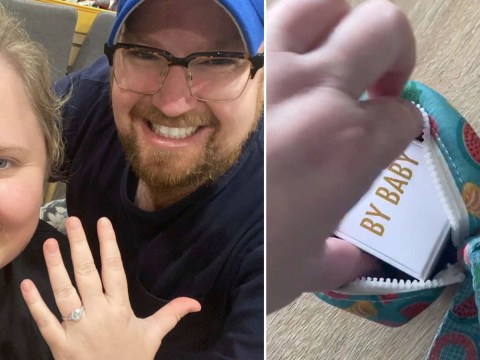 Boyfriend hides engagement ring in dog poo bag and proposes while on a walk