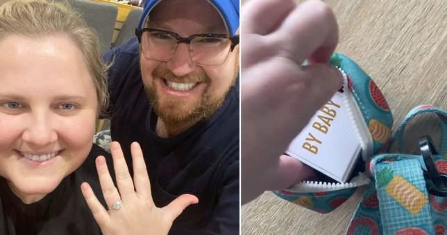 Proposal ring hidden in dog poo bag