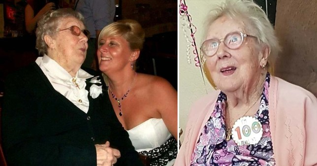 A super great-great gran has beaten off seven deadly illnesses in her lifetime (Picture: SWNS)