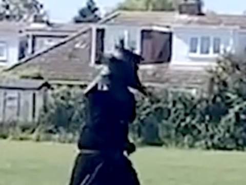 Teenager dressed as plague doctor to menace village gets told off by police