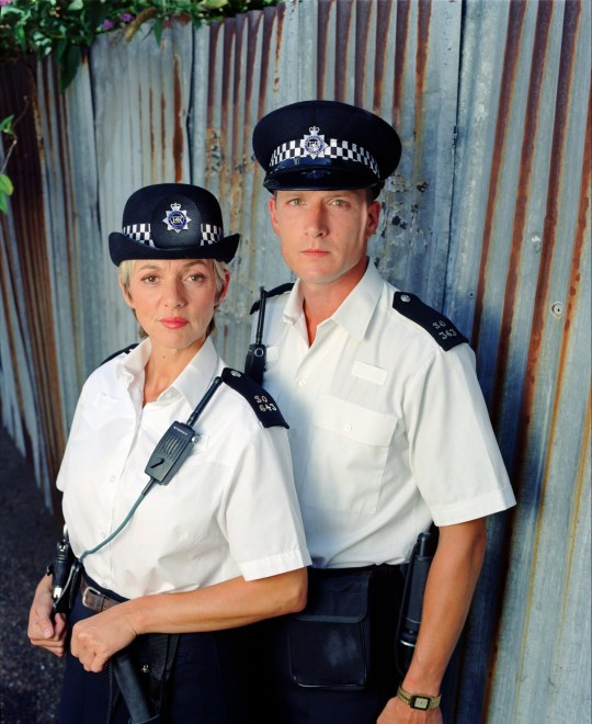 Editorial use only Mandatory Credit: Photo by ITV/REX/Shutterstock (802583fj) 'The Bill' TV Trudi Goodwin and Tom Butcher ITV ARCHIVE
