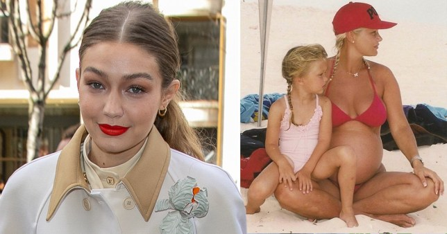 Gigi Hadid mother's day tribute (Picture: Getty, @gigihadid/Instagram)