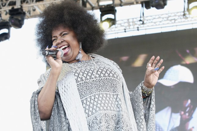 Betty Wright performing on stage