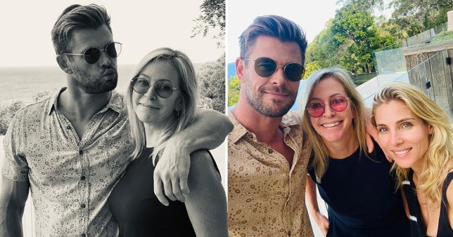 Chris Hemsworth poses with wife and mum with sweet Mother's Day message (Picture: @chrishemsworth/Instagram)