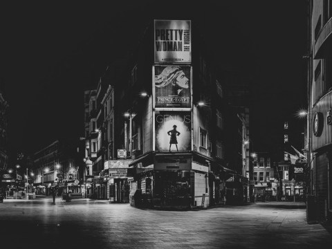 Photographer captures the deserted streets of central London in lockdown