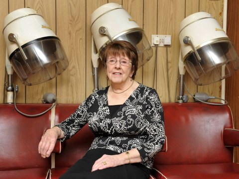 Britain's oldest hairdresser, 90, can't wait to cut people's hair again from the salon she's had since 1956