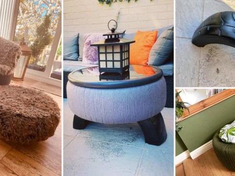 Woman turns old tyres into new furniture with a few simple hacks