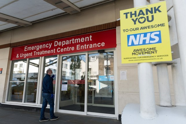 LONDON, UNITED KINGDOM - APRIL 14, 2020: A view of the entrance to the Emergency Departments of the Chelsea and Westminster Hospital in London, one of the facilities which treats patients with Covid-19, as the UK's nationwide lockdown to slow down the spread of the Coronavirus disease enters its fourth week on 14 April, 2020 in London, England. The UK Government is due to undertake a review of the lockdown measures this week as the hospital Covid-19 death toll rose above 11,000 while 88,621 people have tested positive for the virus. (Photo by WIktor Szymanowicz/NurPhoto)