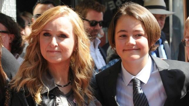 Melissa Etheridge and son Beckett