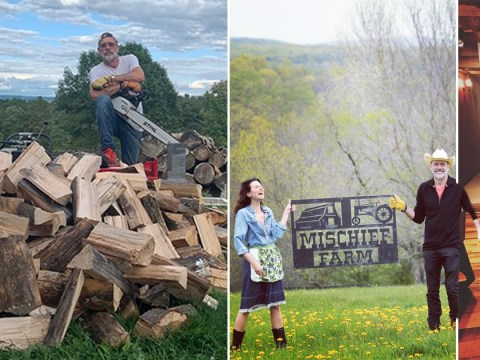 Inside Hilarie Burton and Jeffrey Dean Morgan's 100-acre New York farm where they're self-isolating with their kids