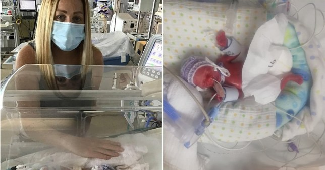 Faye Mceniry, who has described how she had to cope alone with the premature birth and death of her baby daughter during the Covid-19 lockdown.