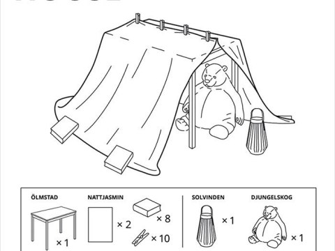 IKEA shares how to make six types of furniture fort during lockdown
