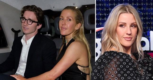 Ellie Goulding pictured with husband Caspar Jopling and at Global Awards