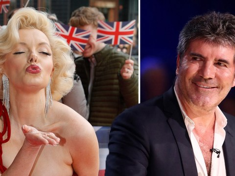 Simon Cowell left blushing as striking Marilyn Monroe lookalike flirts with him on Britain's Got Talent