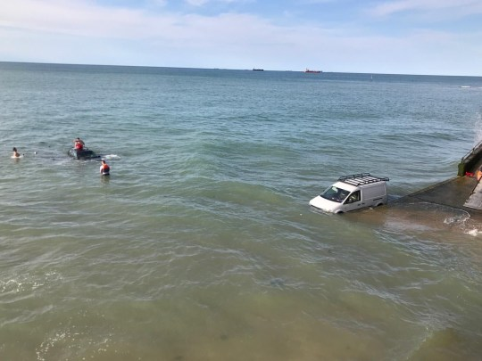 Cars wash away in Margate tide