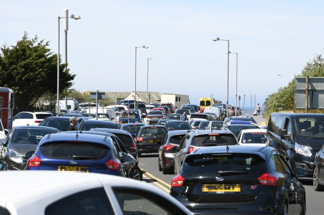 The approach to Ainsdale Beach full of cars. Credit: Liverpool Echo/Andy Teebay