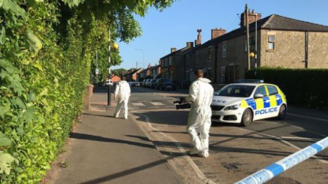 A man has been arrested after a double stabbing in which a woman died. The victim, believed to be in her 30s, was attacked inside a property in Upholland Road, Wigan, on Wednesday.