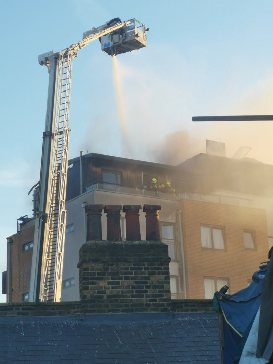 Fire south London Taken with permission https://twitter.com/kursed101/status/1263182263224872960 Picture: kursed101
