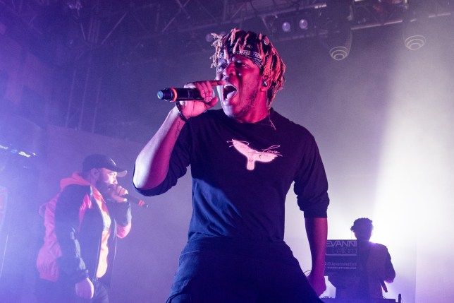 KSI performs on stage at O2 Academy Islington on February 1, 2020 in London