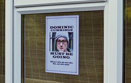 Poster calling for Dominic Cummings to resign
