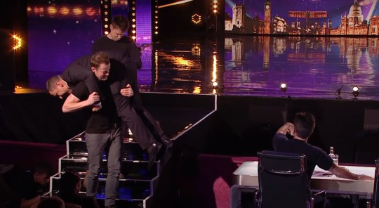 Britain's Got Talent unseen clip - David Walliams' dream comes true after firefighter picks him up picture: BGT METROGRAB