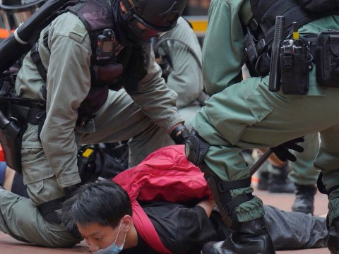 Hong Kong police fire tear gas at protesters fighting Chinese 'treason' law