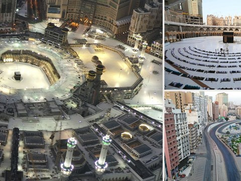 Grand Mosque of Mecca almost empty for Eid al-Fitr prayers