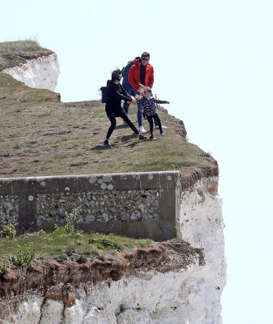 Birling Gap cliffs reach up to 400ft